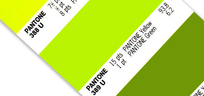 Pantone color spot swatch